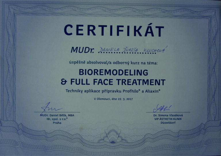 certifikát Profhilo Aliaxin